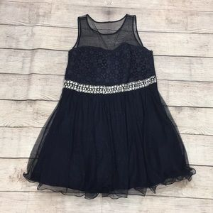 My Michelle Navy Blue Prom Homecoming Dress 20